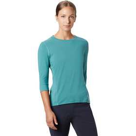 Mountain Hardwear Crater Lake 3/4 Cuello Redondo Mujer, washed turquoise